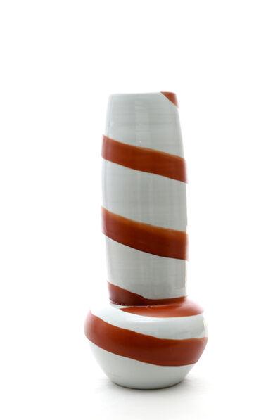 Ken Akaji, 'Vase with spiral brush pattern', 2015