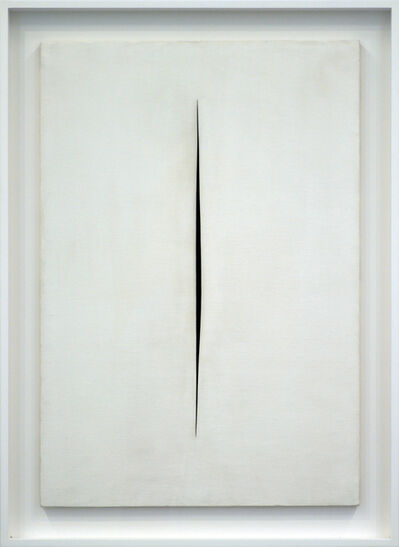 Lucio Fontana, 'Concetto spaziale, Attesa', 1964
