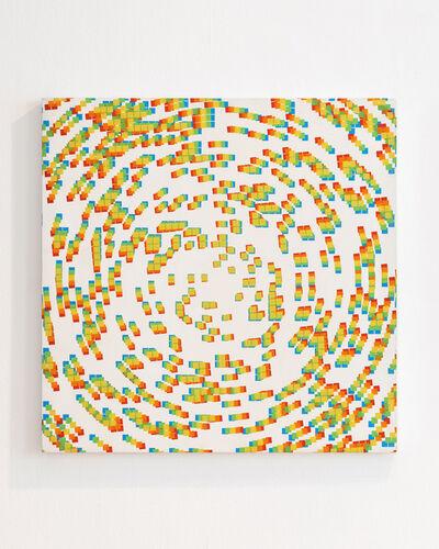 François Morellet, '5 impressions décalées: bleu, vert, jaune, orange et rouge', 1969