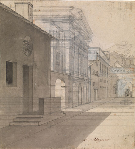 Nicolai Abildgaard, 'Study for the architecture of Terennce's Andria act 3 '