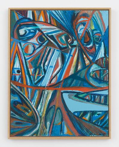 Johannes VanDerBeek, 'Blue Masks', 2017