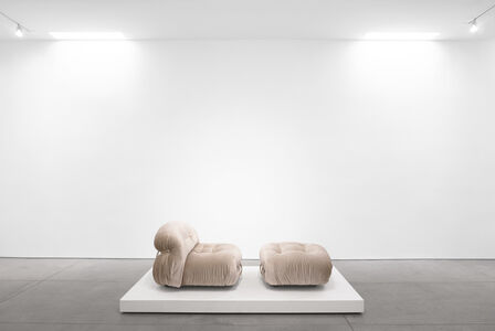 Afra & Tobia Scarpa, ''Soriana' Lounge Set for Cassina (Two Chairs and Ottoman)', 1970-1979