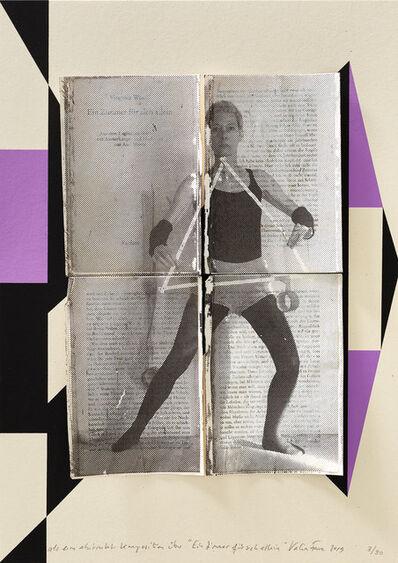 """Valérie Favre, 'Als eine abstrakte Komposition über """"Ein Zimmer für sich allein"""" II', 2019"""