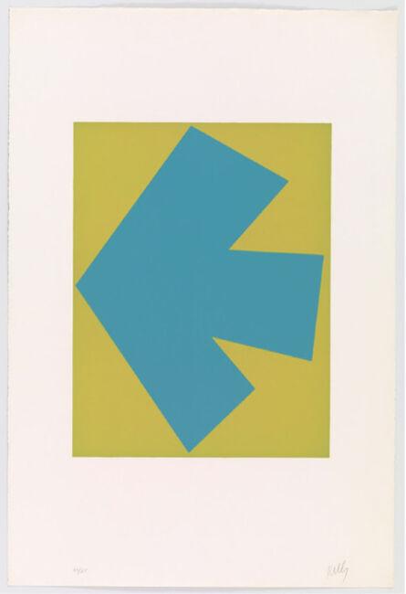 Ellsworth Kelly, 'Blueover green', 1964