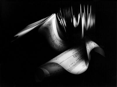 """Suzie Maeder, 'Score by Roland Moser  2 """"Kleines Exercitium zum Gedicht Kirchberg von Klaus Merz""""', 1998"""