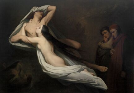 Ary Scheffer, 'Paolo and Francesca', 1856