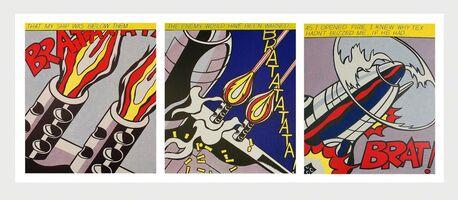 Roy Lichtenstein, 'Roy Lichtenstein As I Opened Fire set of 3 lithographic posters', c.2001