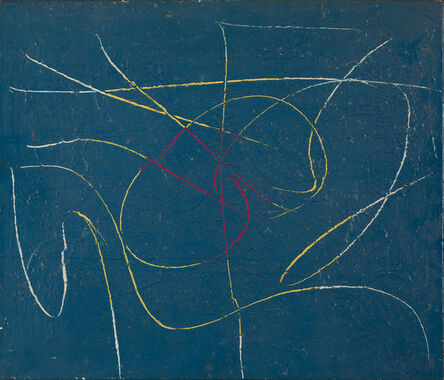 Gerald Wilde, 'Writings in Blue II', 1955