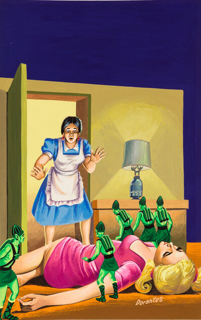 'Untitled (Maid interrupting little green alien attack)', c. 1960-75