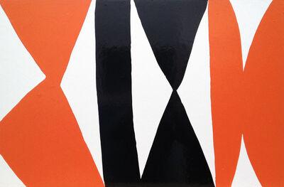 Kim MacConnel, 'Enamel Panel #3. (white, orange, black)', 2004