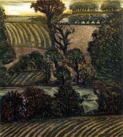 David Inshaw, 'East Kennet', 1989-1992