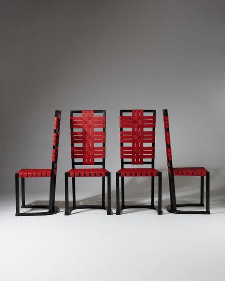 """Axel Einar Hjorth, 'Set of four chairs """"Futurum""""', 1928"""