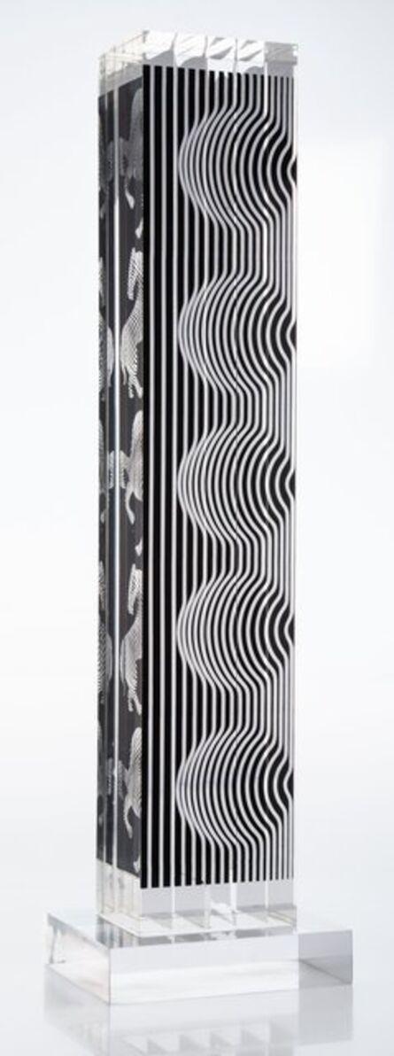 Victor Vasarely, 'Zebra Tower', 1988