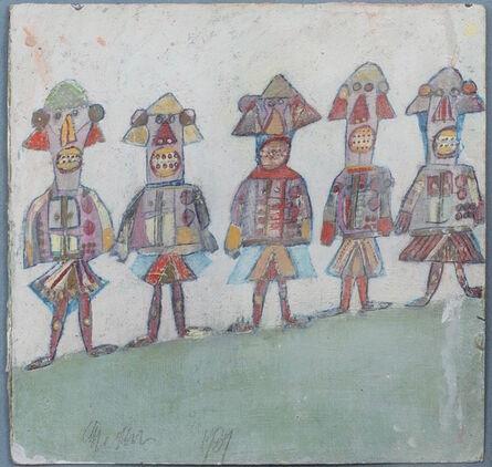 Anne Grgich, 'Crayon Army', 1988-1989