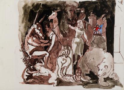 Paula Rego, 'Study for the Artist in Her Studio I', 1993
