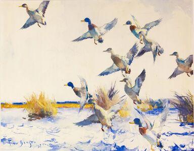 Frank Weston Benson, 'Ducks Rising', 1927