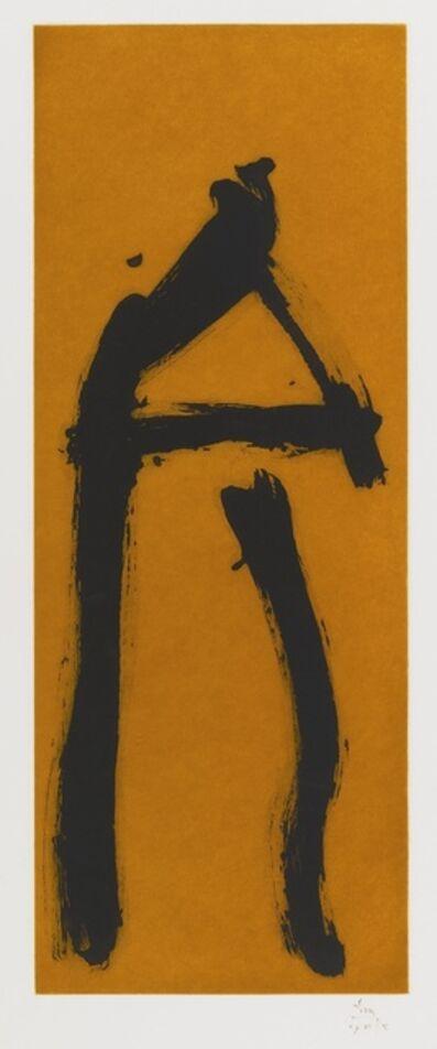 Robert Motherwell, 'Black Gesture on Copper Ground (W.A.C. 276)'