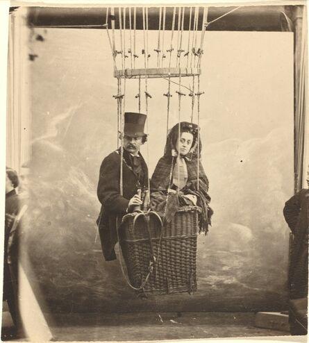 Nadar, 'Self-Portrait with Wife Ernestine in a Balloon Gondola', ca. 1865