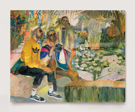 Rebecca Harper, 'Guys Hanging Out At The Lilly Ponds', 2018