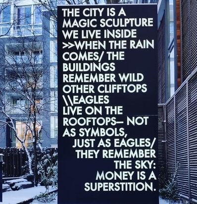 Robert Montgomery, 'Poem in Lights to be Scattered in the Square Mile', 2017