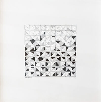 Manfred Mohr, 'P-135a', 1973