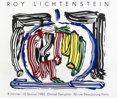 Roy Lichtenstein, 'Brushstroke Apple', 1983