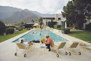 Slim Aarons, 'Poolside Interruption', 1970
