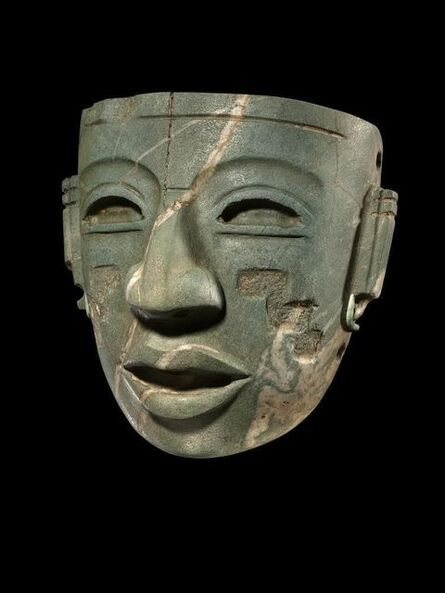 'Teotihuacan Mask with carved stepped pyramid motif', 250-450 CE