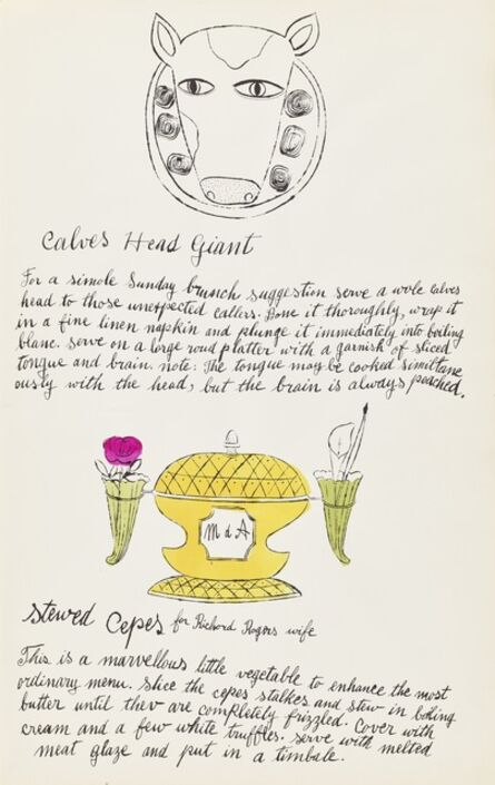 Andy Warhol, 'Stewed Cepes, from Wild Raspberries (Feldman & Schellman IV.129A)', 1959