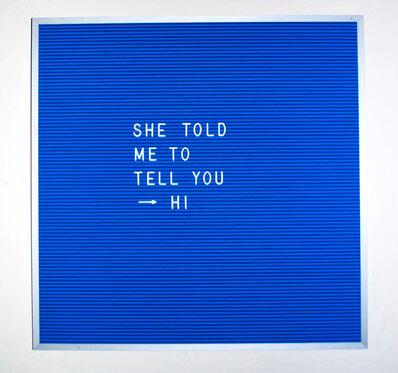 Nicole Reber, 'Guess Who I Ran Into', 2015