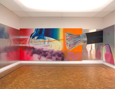 James Rosenquist, 'Installation view of Horse Blinders, Museum Ludwig, Cologne (Detail)', 1968-1969