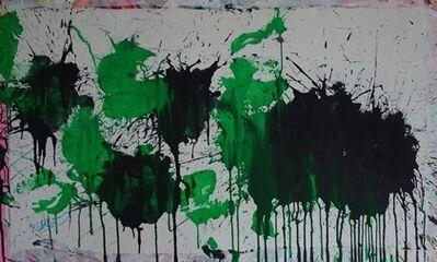 Ushio Shinohara 篠原 有司男, 'Black & Green on White', 2015