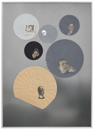Joëlle Tuerlinckx, 'COLLAGES D'ARCHIVES-ATELIER Série Human Body - Portrait Tache', 2012