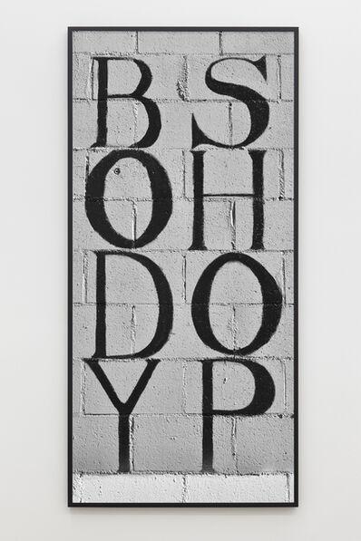 Shannon Ebner, 'The Body Shop', 2014