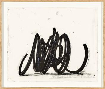 Bernar Venet, 'Two indeterminate lines', 2013