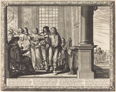Abraham Bosse, 'The Prodigal Son's Father Orders the Best Robe and the Slaughter of the Fatted Calf'
