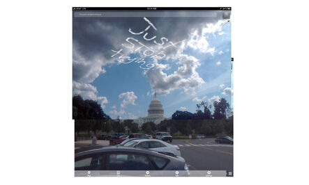 Will Pappenheimer, 'Just Stop Trying over the Capitol (Sky Petition City series)', 2013