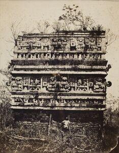 Claude Joseph Désiré Charnay, 'Palais des Nonnes, à Chichen‑Itza; Façade de l'Aile Gauche (Palace of the Nuns, Chichén-Itzá; Façade of the Left Wing)', 1860