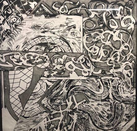 Frank Stella, 'Swan Engraving Square IV', 1982