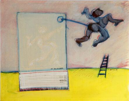 Hellal Zoubir, 'L'homme et l'échelle', 1979