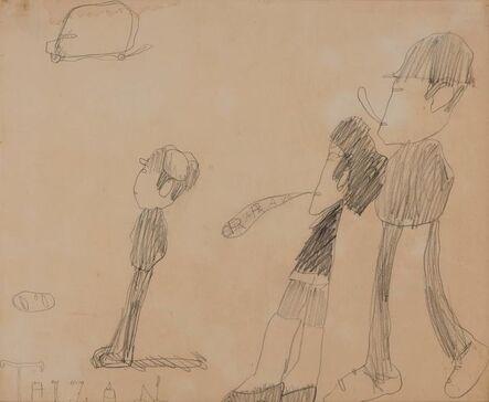 Claes Oldenburg, '3 Figures and 1 Bus', 1960