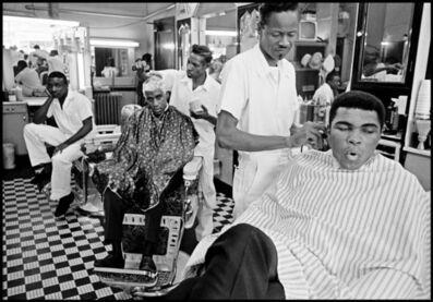 Thomas Hoepker, 'Muhammad Ali in a barber shop, Chicago, Illinois', 1966