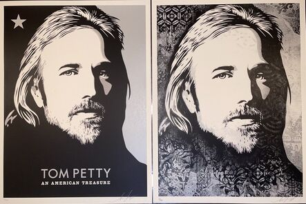 """Shepard Fairey, 'Tom Petty """"An American Treasure"""" Diptych Matching Numbered Set Contemporary Art  ', 2018"""