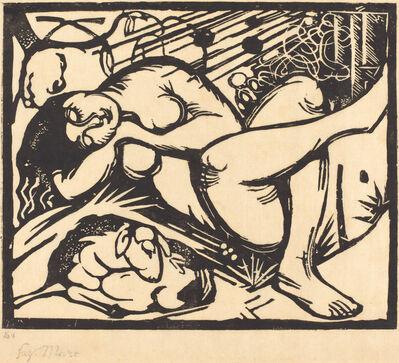 Franz Marc, 'Sleeping Shepherdess (Schlafende Hirtin)', 1912