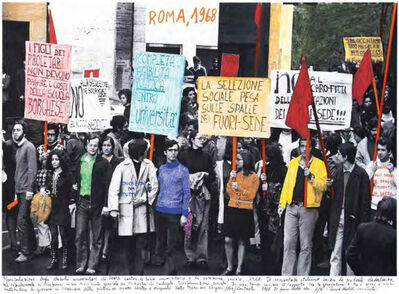 """Marcelo Brodsky, 'From the series """"1968, the fire of the ideas"""", Roma, 1968', 2014-2017"""