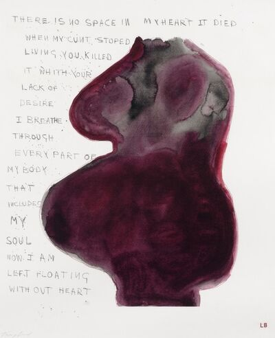 Louise Bourgeois & Tracey Emin, 'When My Cunt Stopped Living', 2009-2010