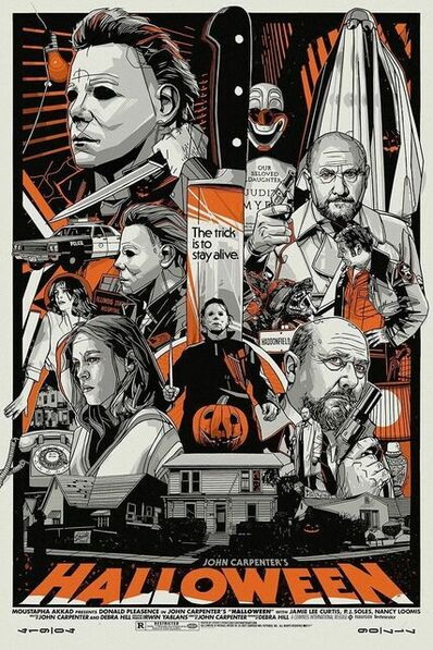 Tyler Stout, 'Tyler Stout Halloween Screen Print Michael Myer's Horror Movie Limited Edition John Carpenter ', 2021