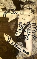 Keith Haring, 'Flying Angel (Madonna)', 1987