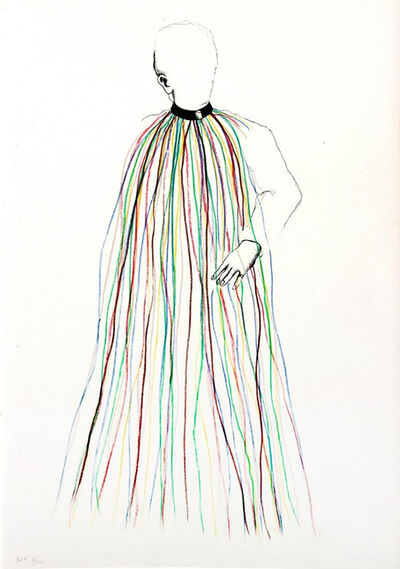 Jim Dine, 'Dorian Gray in Multi-Colored Vinyl Stripe Cape', 1968