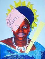 Andy Warhol, 'Queen Ntombi of Swaziland (unique)', 1985